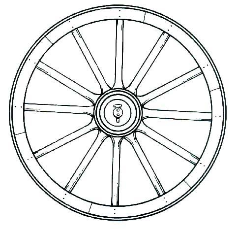 Wagon Wheel Coloring Page