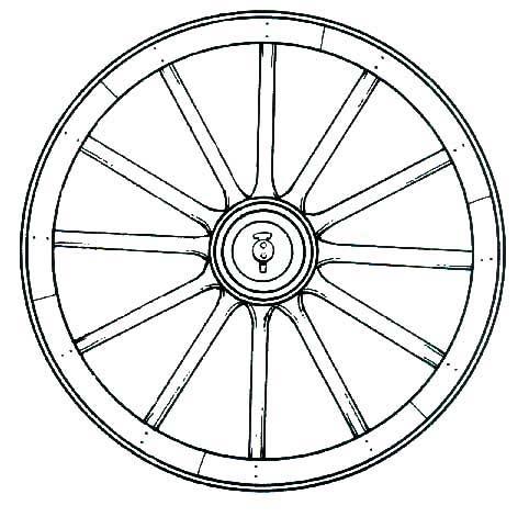 Wagon Wheel Coloring Page