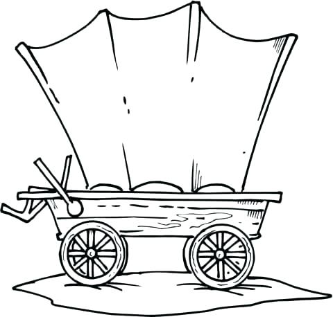 480x458 Wagon Coloring Page Trend Covered Wagon Coloring Page Print
