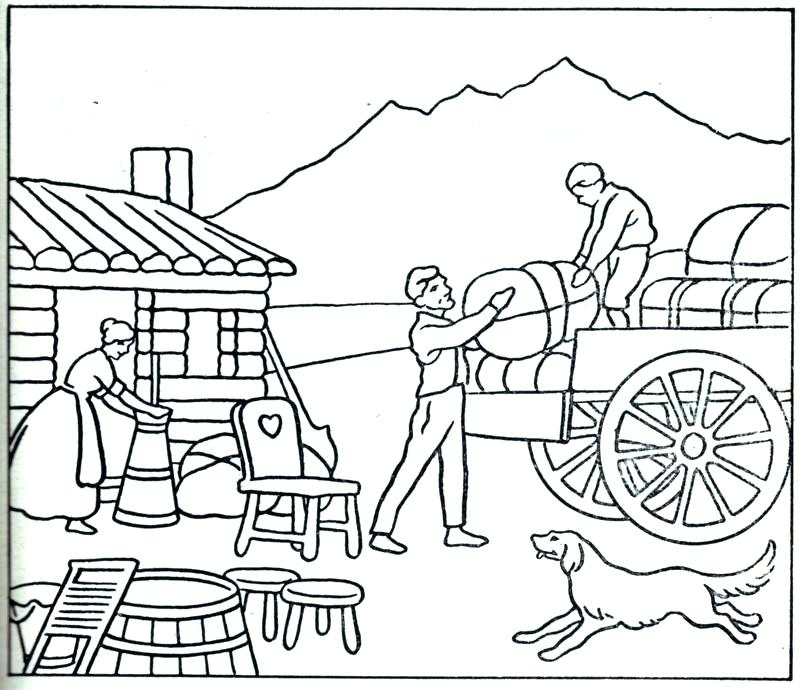 800x690 Wagon Coloring Pages Alphabet Chuck Wagon Coloring Page