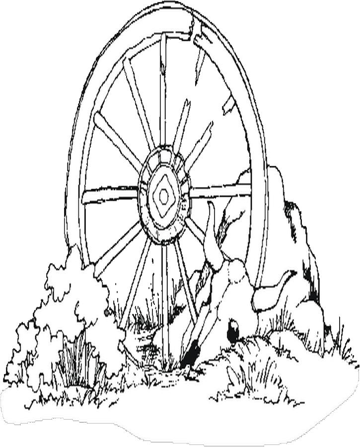 725x900 Wagon Wheel Coloring Page
