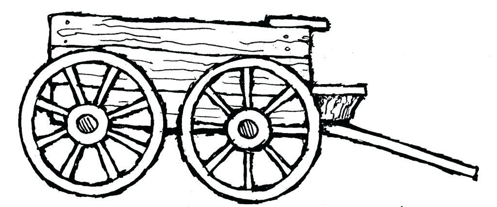 1024x428 Wagon Wheel Coloring Pages