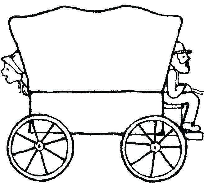 657x601 Wagon Coloring Pages
