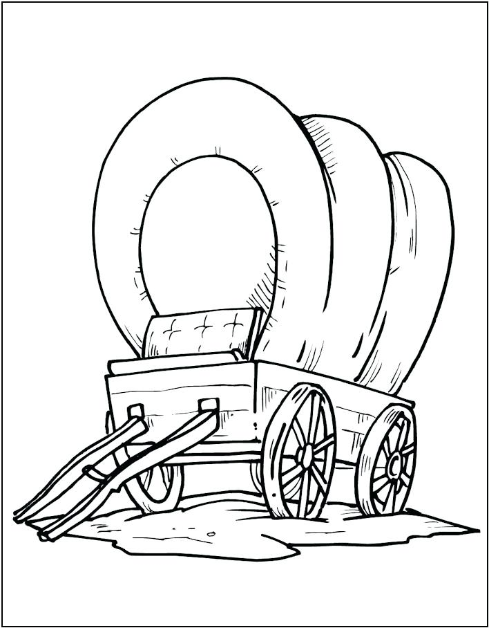 708x908 Wagon Coloring Page Covered Wagon Coloring Page Wagon Wheel