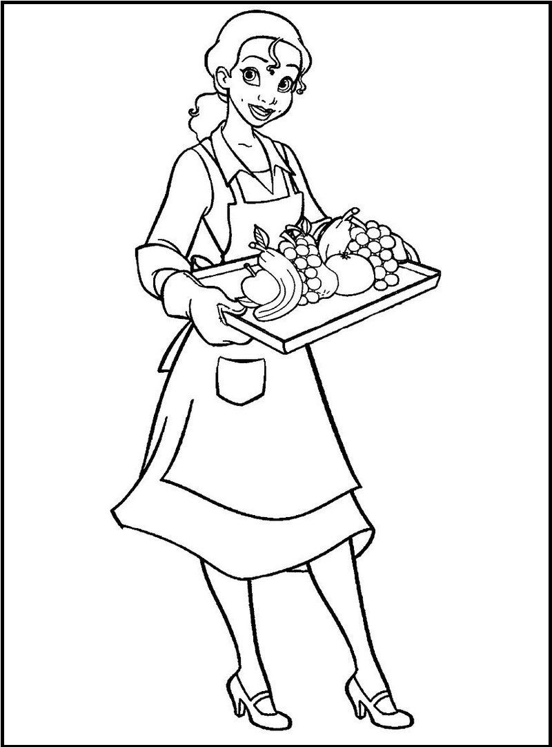 800x1082 Waiter And Waitress Coloring Sheet Is A Real Learning Fun Coloring
