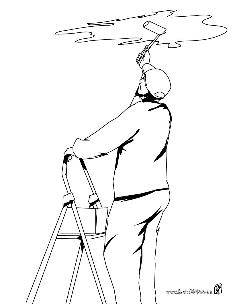 820x1060 Waiter Coloring Pages