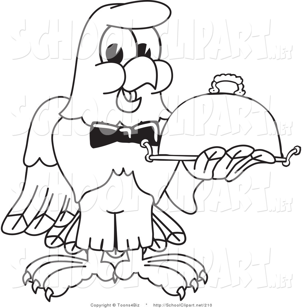 1024x1044 Clip Art Of A Coloring Page Of A Bald Eagle Hawk Or Falcon Waiter