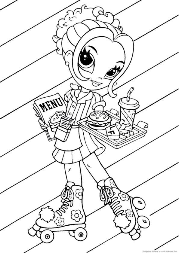 595x842 Print Coloring Image Lisa Frank, Lisa And Girls
