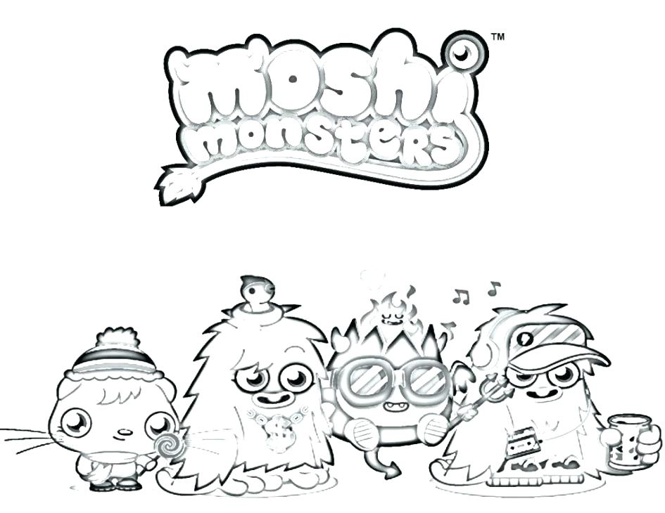 945x730 Moshi Monster Coloring Pages Monster Coloring Pages Monster Waldo