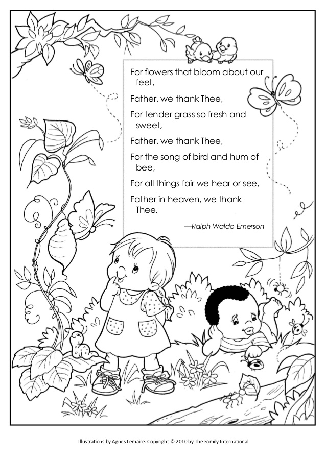 638x903 Coloring Pages Shout For Joy And Father We Thank Thee