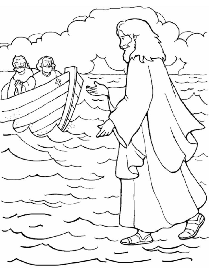 700x900 Peter Walks On Water Coloring Page Jesus Walks On Water Coloring