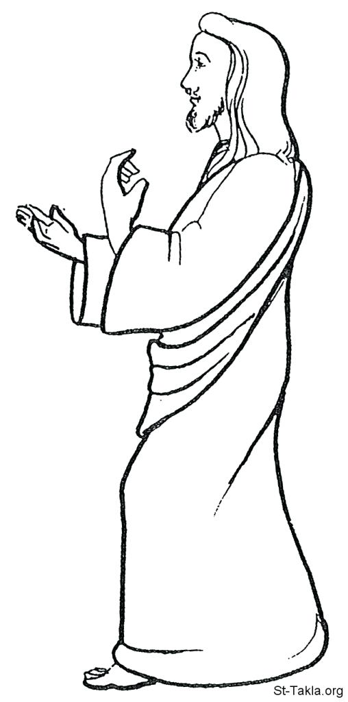 508x1024 Jesus Walks On Water Coloring Page