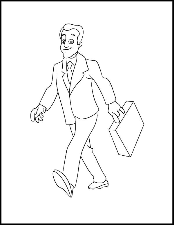 600x775 Business Man Walking Confidently Coloring Pages Best Place To Color