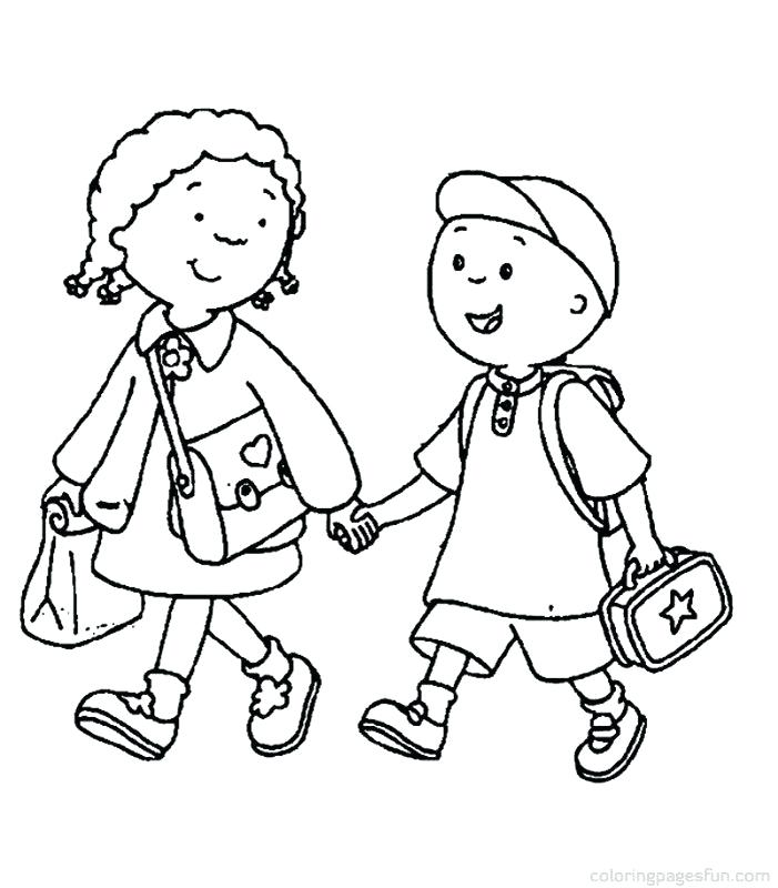 701x800 Coloring Pages For School Back School Coloring Pages Walking
