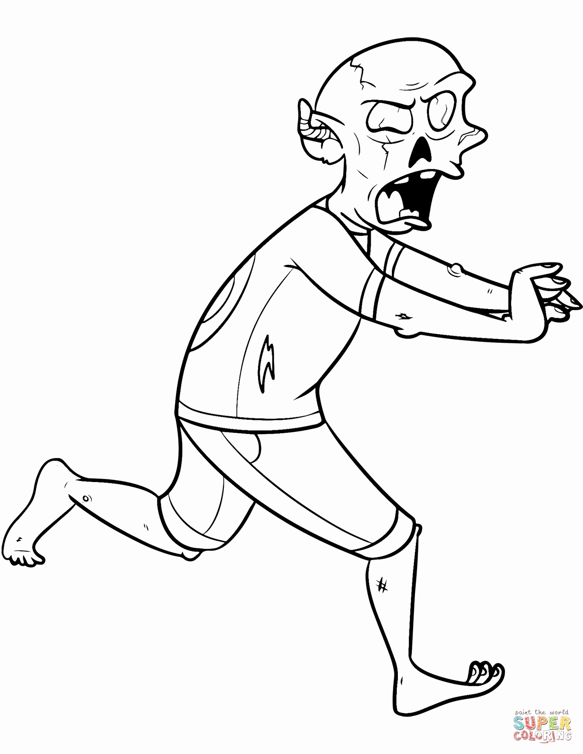 1159x1500 New Of Walking Dead Zombie Coloring Pages Images