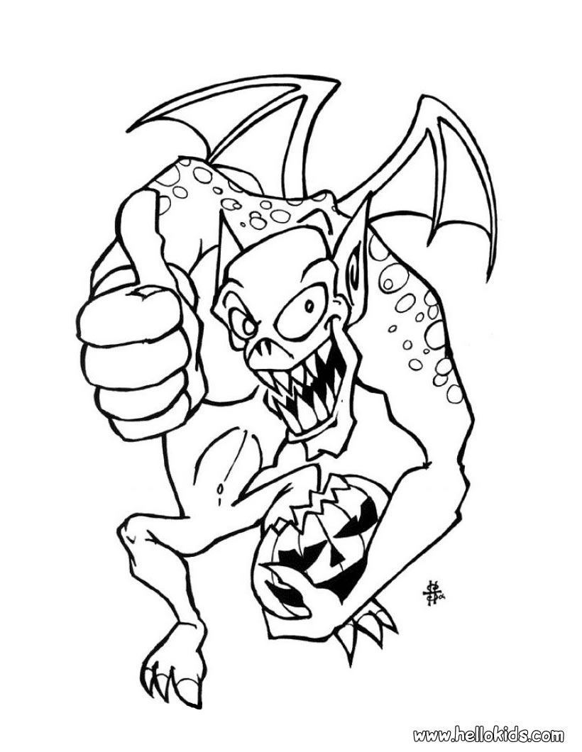 820x1060 Halloween Monster Coloring Pages New Coloring Sheets