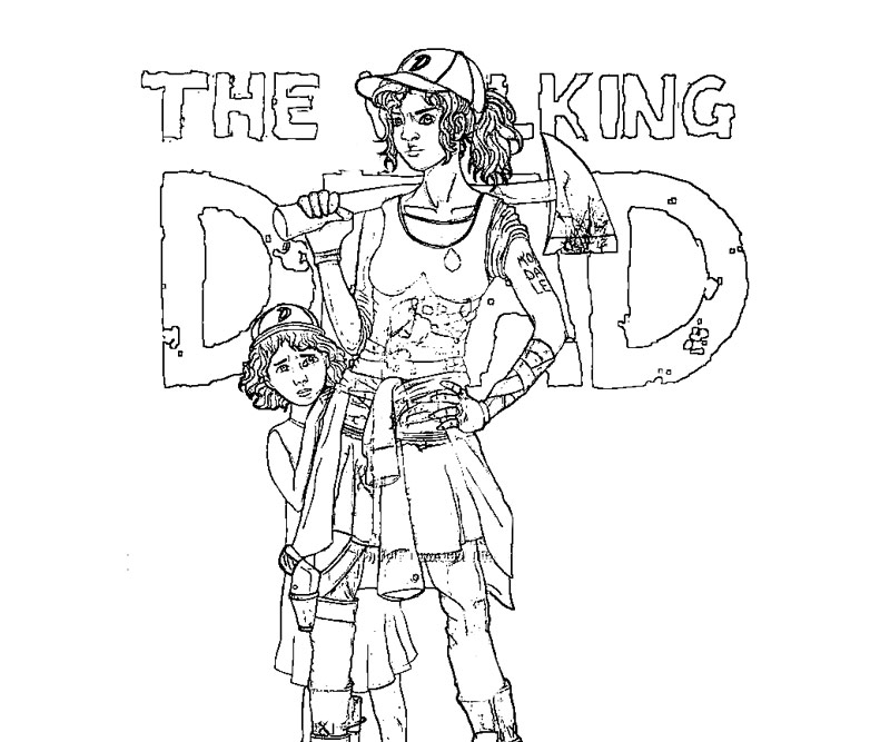 800x667 The Walking Dead Coloring Page Printable Free Coloring Pages