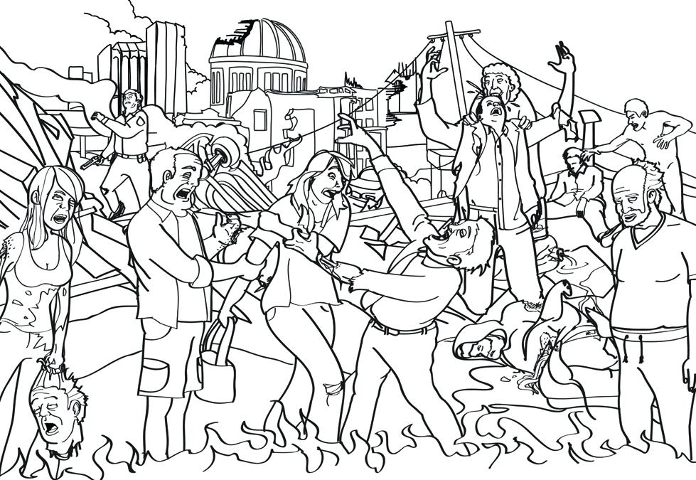 979x675 Walking Dead Coloring Book Also Free Walking Dead Coloring Pages