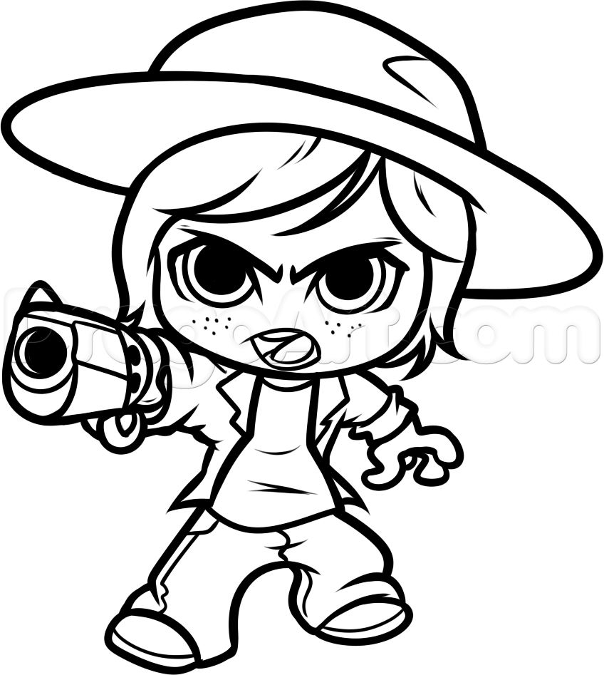 848x947 Chibi Carl Chibi Carl From The Walking Dead, Step