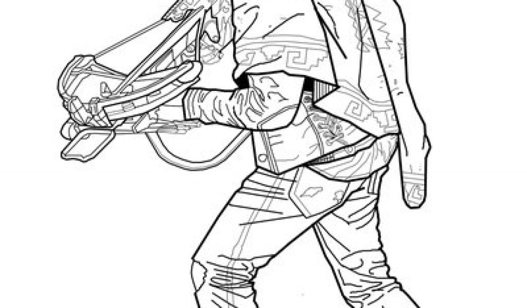 1024x600 Daryl The Walking Dead Coloring Premierefree Coloring Pages