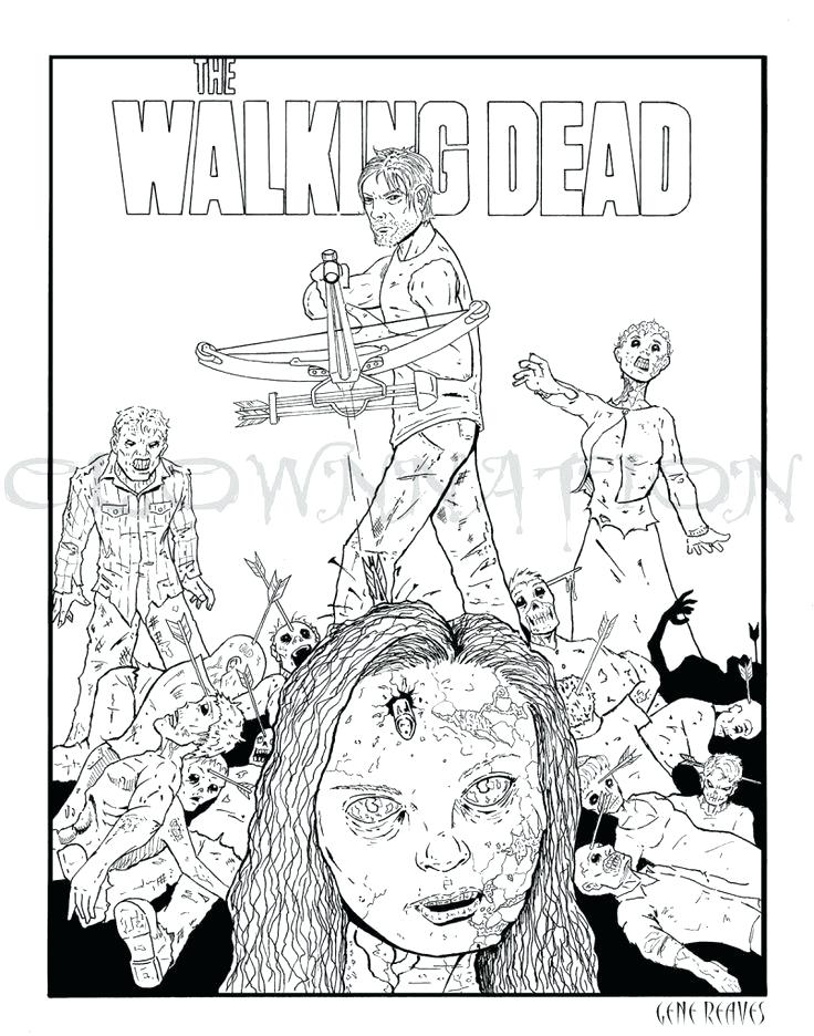736x936 Walking Dead Coloring Book