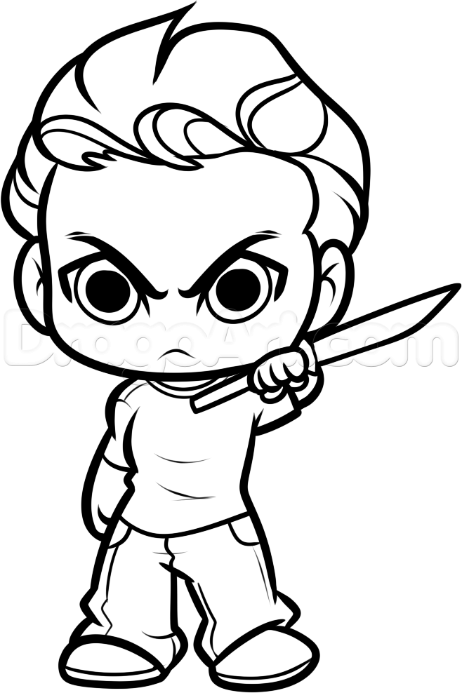 658x988 How To Draw Chibi Glenn From The Walking Dead Step Character