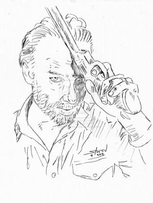 300x398 The Walking Dead Rick Coloring Sheets Walking Dead Coloring
