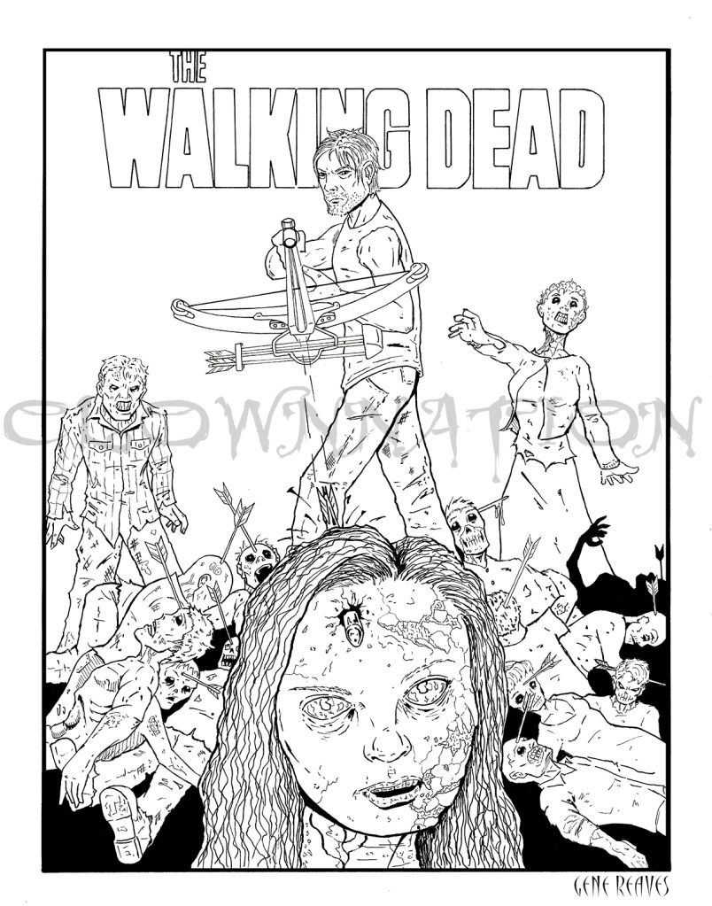 804x1023 Walking Dead Coloring Pages To Print Walking Dead Art Recipes