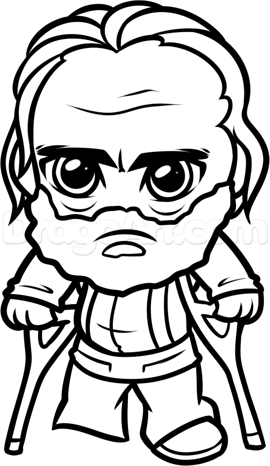 538x930 How To Draw Chibi Hershel From The Walking Dead, Step