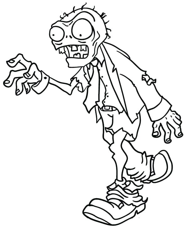 600x776 Zombie Coloring Pages Top Zombie Coloring Pages For Your Kids
