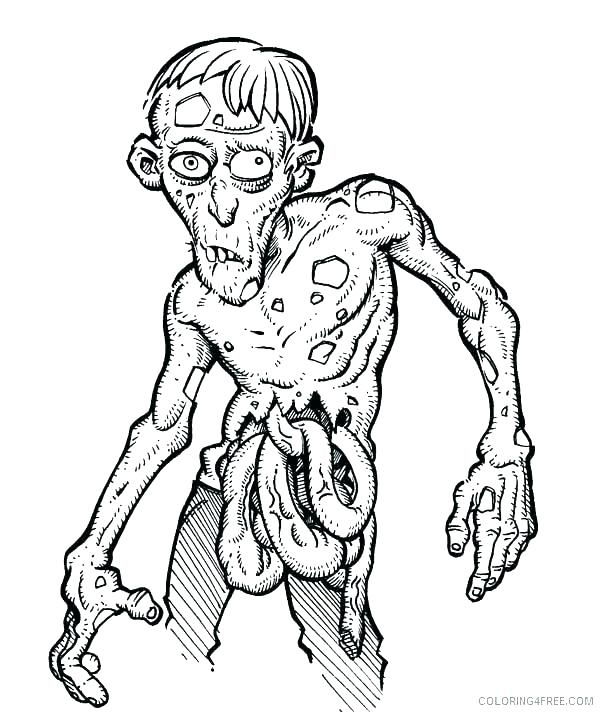 600x712 Zombie Coloring Pages Zombie Coloring Pages Sunflower Sweet Smile