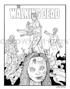 236x300 Walking Dead Coloring Pages To Print The Walking Dead's Andrea