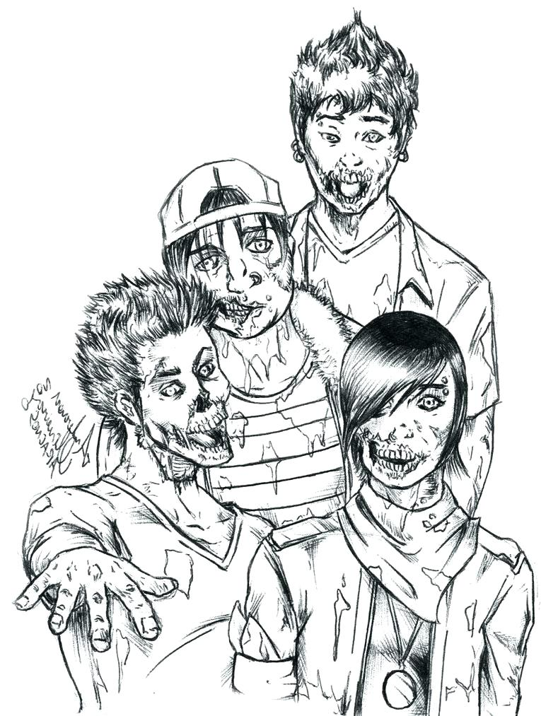 765x1013 Zombie Coloring Pages