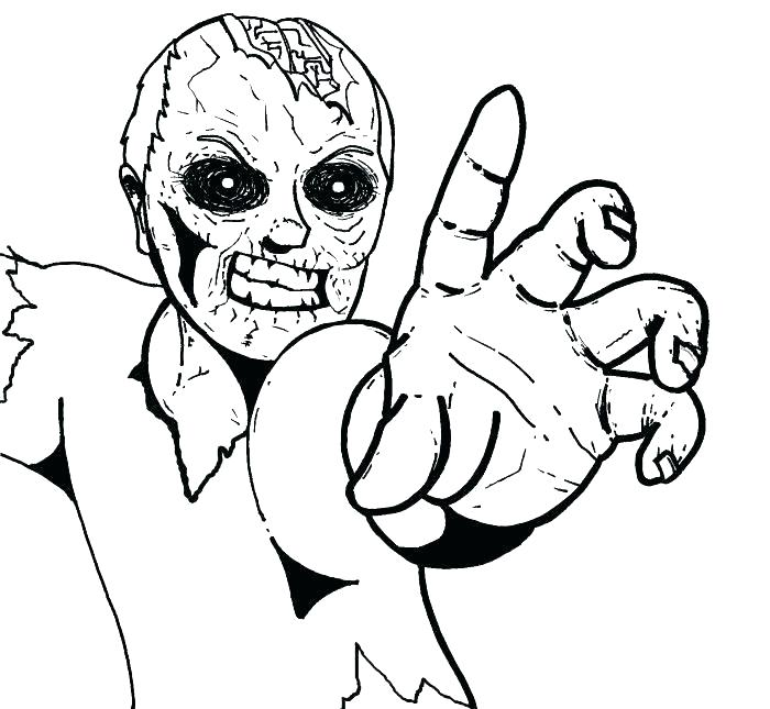 700x645 Halloween Zombie Coloring Pages Scary Zombie Coloring Pages Scary