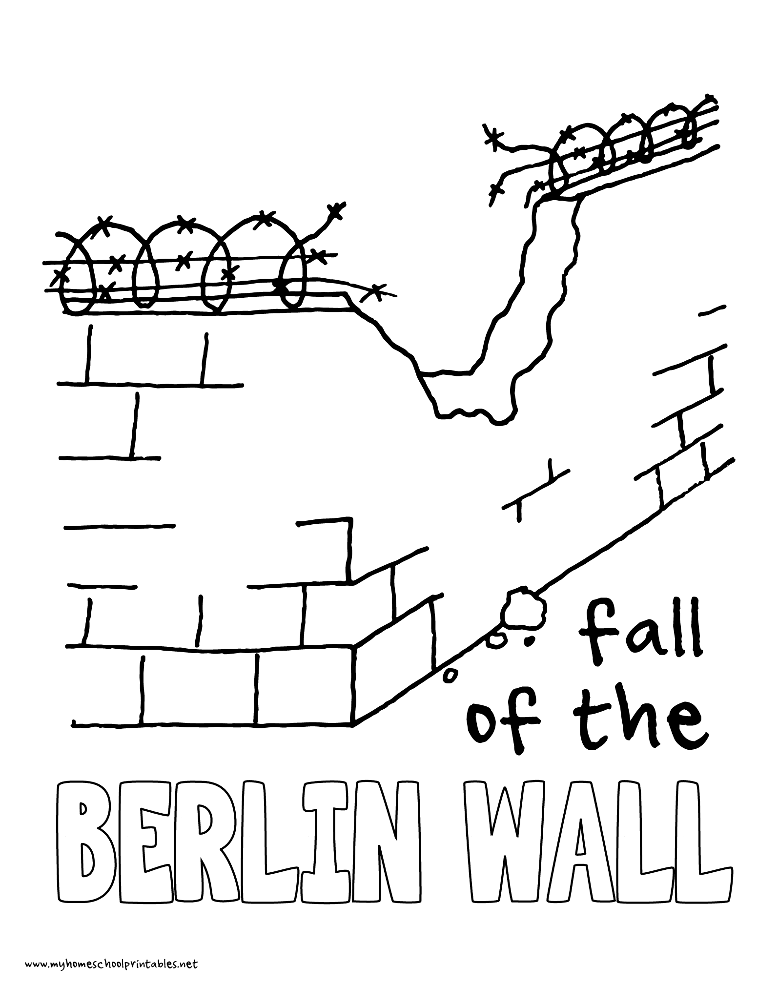 1594x2063 History Coloring Pages Volume Berlin Wall