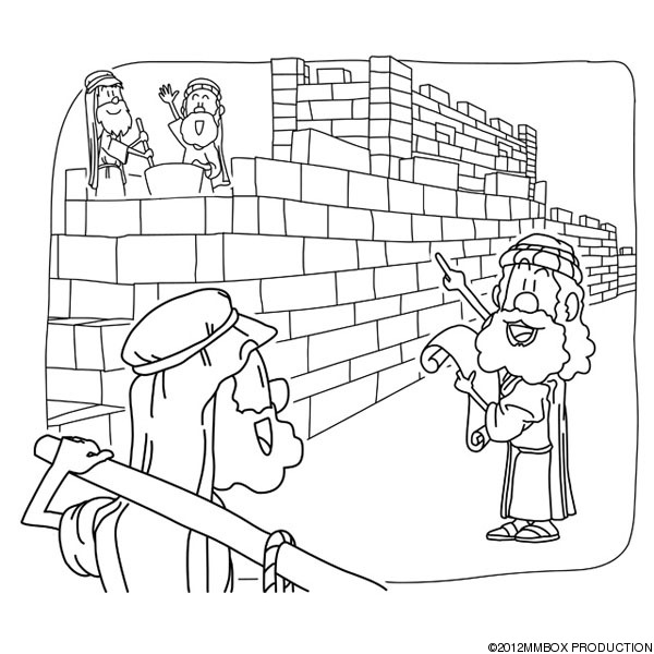 600x600 Nehemiah Builds The Wall Coloring Page