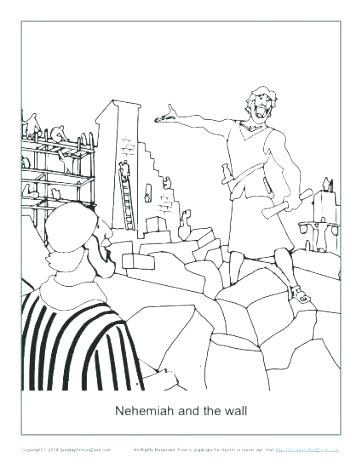 362x468 Nehemiah Coloring Page Coloring Page And The Wall Coloring Page