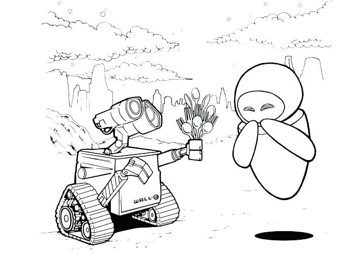 700x500 Wall E Coloring Page Wall E Coloring Pages Eve And Wall E Coloring