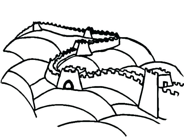 600x446 Wall E Coloring Pages Coloring Pages Great Wall Of China Coloring