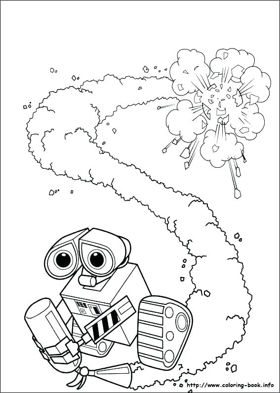 567x794 Wall E Coloring Pages