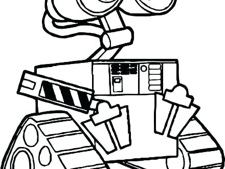 440x330 Coloring Pages For Kids Valentines Wall E Page Giant Pixar Walle