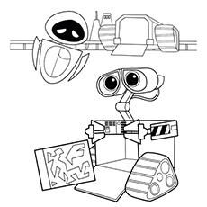 Wall E And Eve Coloring Pages