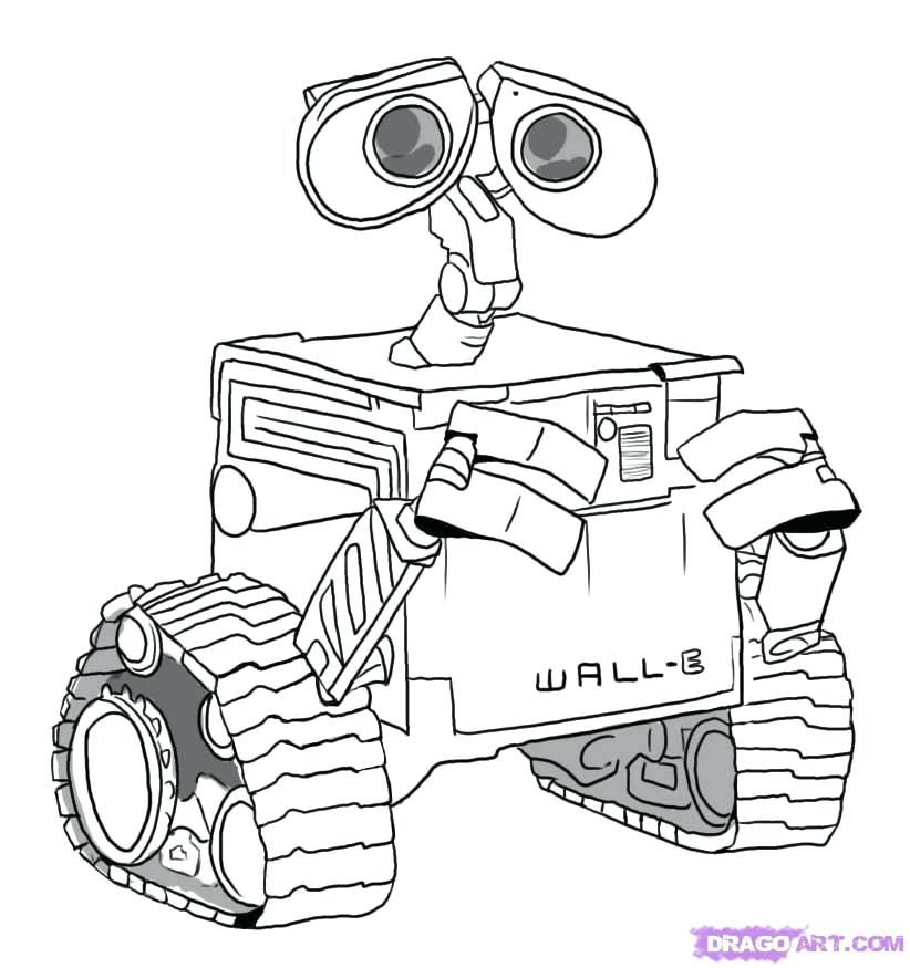 822x875 Wall E And Eve Coloring Pages Many Interesting On Excellent Wall E