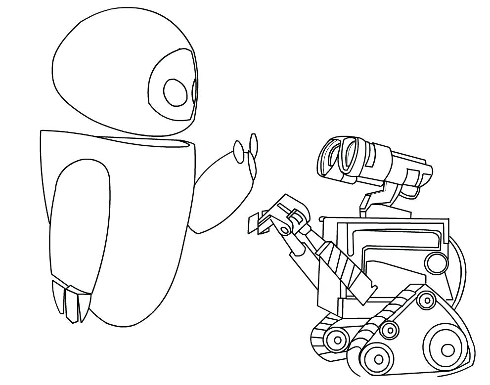 991x779 Wall E And Eve Coloring Pages On Wall E Coloring Pages Embroidery