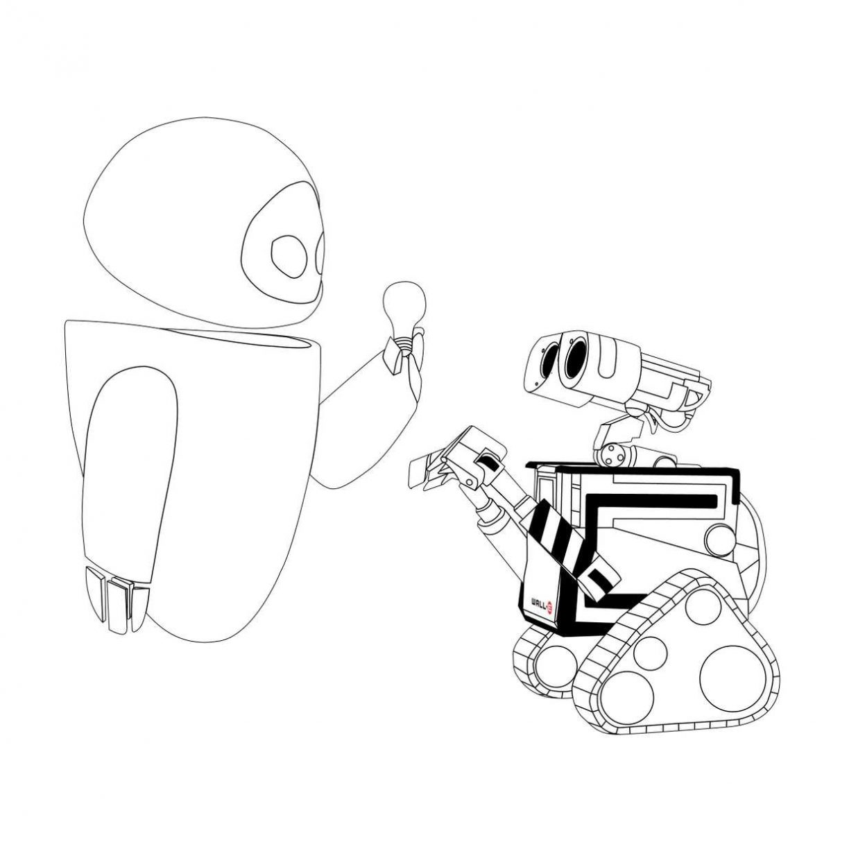 1224x1224 Wall E And Plant Coloring Pages For Kids Lovely Free Printable