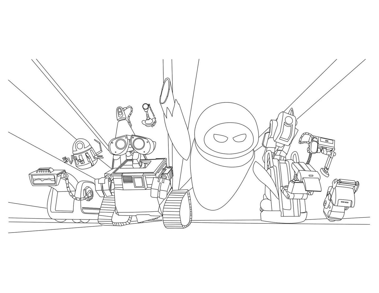 1600x1236 Wall E Coloring Pages