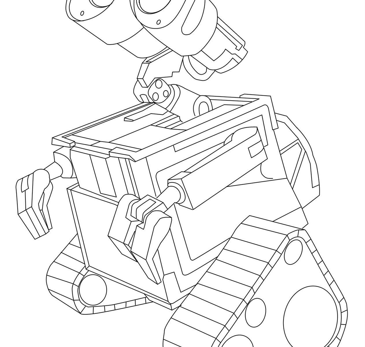 1263x1200 Wall E Coloring Pages For Free Printable General Wall E High