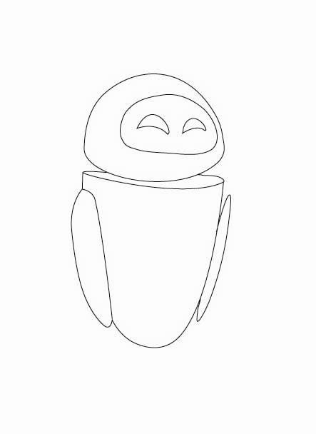 443x608 Wall E Coloring Pages Wall E's Friend, Eve