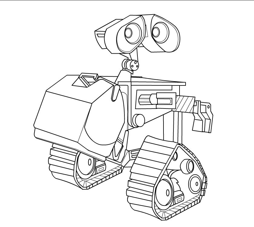 839x749 Wall E Coloring Pages