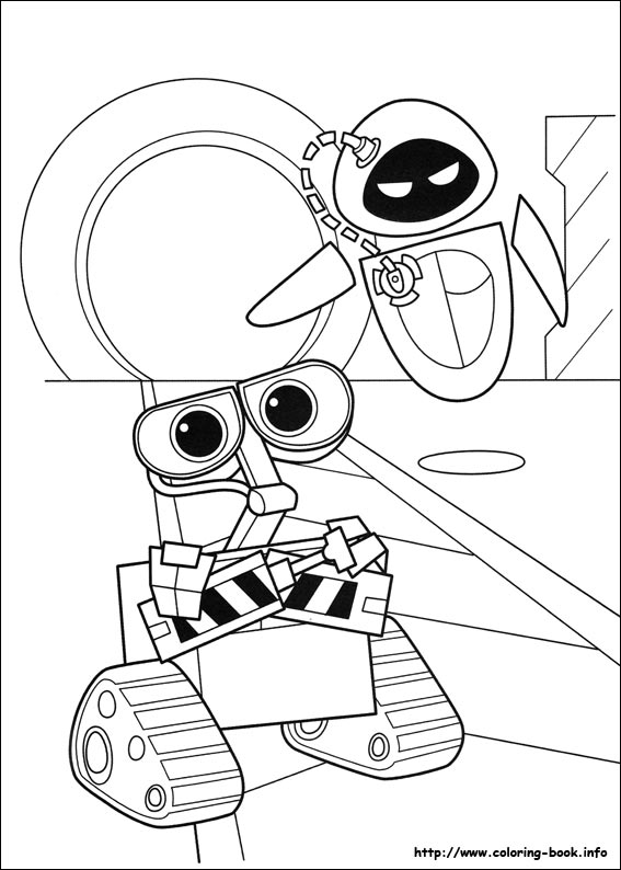 567x794 Wall E Coloring Picture
